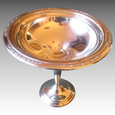 Beautiful International Sterling Silver Weighted Compote - Courtship Pattern