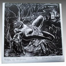 Signed / Numbered Linocut by Charles Surendorf - The Rape of Polynesia