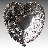 Beautiful Gorham Sterling Silver Heart Dish