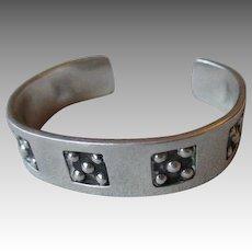 Fabulous Mexican Sterling Silver Cuff Bracelet