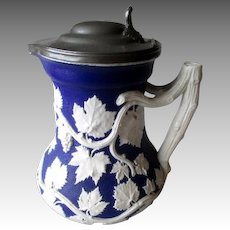 Antique Minton Jasperware Pitcher - 1846 Society of Arts Prize Jug