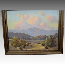"Original Desert Scene Oil Painting by ""Charles Damrow (1916-1989)"""