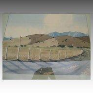 "Original California Watercolor Landscape - ""James March Phillips (1913-1981)"""