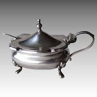 English Sterling Georgian Style Silver Condiment Dish - Walker & Hall