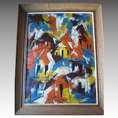 "Original Oil Painting by Haitian Artist ""Paul Beauvoir(1932-1972)"""