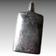 Stunning Sterling Silver Flask with Nude
