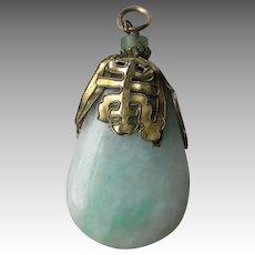 Great Vintage Chinese Jadeite Jade Pendant