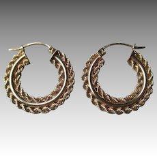 10k Gold Hoop Style Earrings