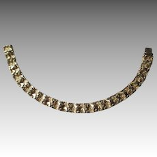 Great 14k Gold Nugget Style Link Bracelet