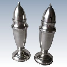 Beautiful 950 Sterling Silver Salt & Pepper Shakers