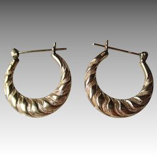 14k Gold Hoop Style Earrings