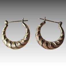 14k Gold Hoop Style Earrings