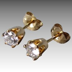 Stunning 14k Gold and 0.50cttw Diamond Stud Earrings