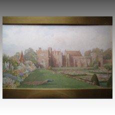 """Thomas Henry Hunn (1857-1928)"" Original Watercolor Painting - Penshurst Castle"