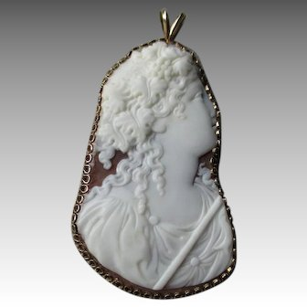 Beautiful Cut Out Shell Cameo Pendant