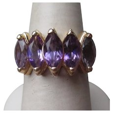 Beautiful 14k Gold and Amethyst Ring