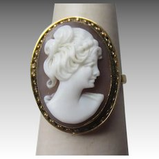 Beautiful 18k Gold Shell Cameo Ring