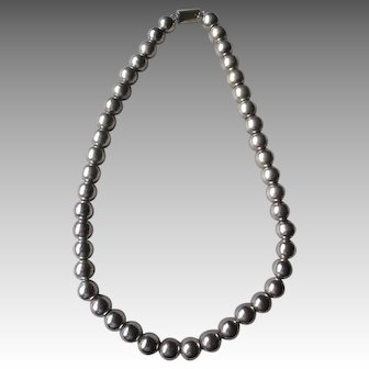Fabulous Taxco Sterling Silver Bead Necklace
