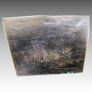 """Original Large """"Setlur Gopal Vasudev"""" Abstract Oil Painting"""