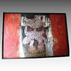 Original Abstract Painting from Calcutta India
