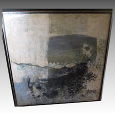 Fabulous Signed Original Abstract Oil Painting from India