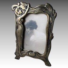 Fabulous Bronze Art Nouveau Photo Frame