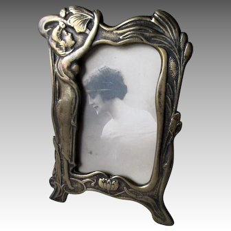 Fabulous Bronze Art Nouveau Photo Frame