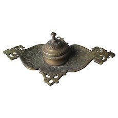 Beautiful Ornate Bronze French Ink Stand