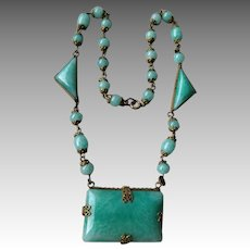 Beautiful Peking Glass Necklace