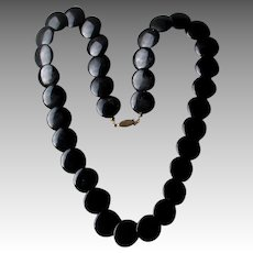 Beautiful Black Onyx Disc Style NEcklace
