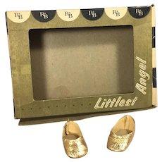 Vintage 1950s Arranbee Littlest Angel Original Box and Gold Shoes!