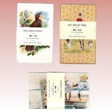 Antique Victorian Salesman Sample Trade Cards in Original Packs!