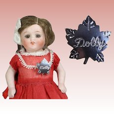 Darling Vintage 1950s DOLLY Pin for your Doll to Wear