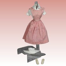 Vintage 1964 Barbie Doll CANDY STRIPER Outift #889