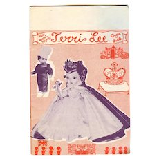 Vintage 1953 Terri Lee Doll Booklet Queen Elizabeth!