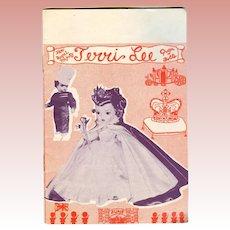 Vintage 1953 Terri Lee Doll Booklet Queen Elizabeth!