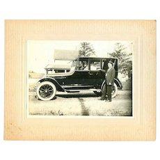 Antique Cabinet Card Photo Model T Automobile Car!