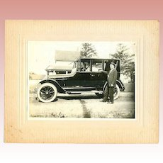 Antique Cabinet Card Photo Model T Automobile Car!