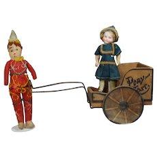 Antique Doll Sized Pony Cart!
