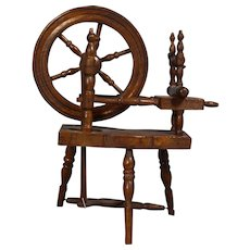 Antique French Doll Sized Spinning Wheel!
