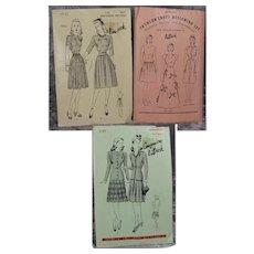 Vintage 1940s Butterick Doll Minnekin Manikin Mannequin Sewing Patterns