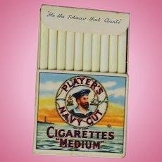 Vintage Doll Sized Kiddicraft Players Mini Navy Cut Cigarettes!