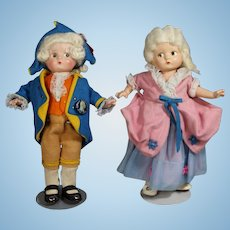 NICE! Effanbee Patsyette George & Martha Washington Compo Dolls!