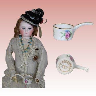 Vintage French Limoges Mini Doll Sized Saucepan from Famous Lasserre Paris Restaurant!