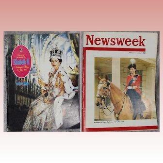 1953 Official Queen Elizabeth II Coronation Souvenir Book & Mag!