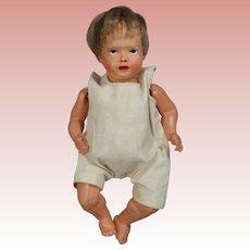 Darling Antique Boy Doll Celluloid USA w Wig!