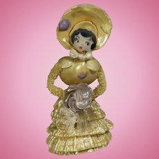 Darling Vintage Miniature Dollhouse Sized Shell Doll!