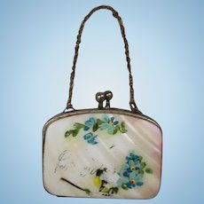 Antique Mother of Pearl Doll Purse!
