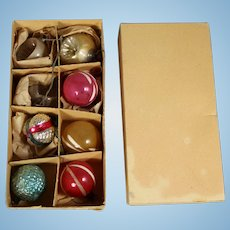 Antique c1900s German Glass Christmas Ornaments for Doll's Feather Tree!