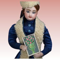 Antique 1909 Mini Calendar Book for French Fashion Doll!